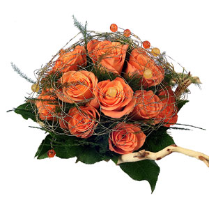 Bouquet rose arancioni